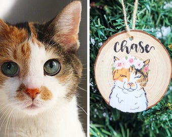 Personalized Pet Ornaments, Personalized Gift, Pet Loss Gift, Pet Memorial, Dog Mom, Cat Lady, Custom Pet Portrait