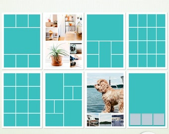 A4 - 8 x Psd Photographer & Scrapbook Templates - Photoshop and Photoshop Elements - Includes Actions 9003