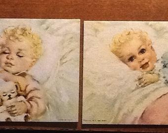 Vintage Set of 2 Florence Kroger Litho Prints