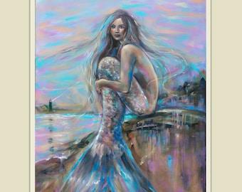 Lighthouse at Dusk ~ Mermaid