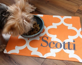 Pet Mat - Placemat for your Dog or Cat's Bowl - Personalized Food Mat - ALL SIZES