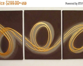 extra large wall art Original Art by UK 3 panel abstract painting triptych canvas office home abstract paintings on hanging kunst 3 SIZES