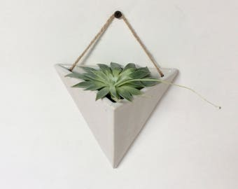 White Triangle Planter - Ready to Ship