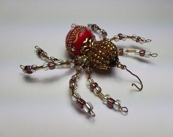 Beaded Christmas Spider and Suncatcher