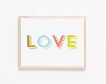 Nursery Art Love. Nursery Wall Art. Nursery Prints. Nursery Decor. Boy Wall Art. Girl Wall Art. Instant Download. Love Wall Art.