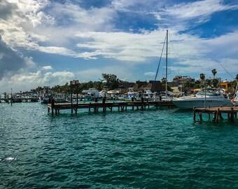 Docking for Refills, Ocean Photography, Beach Photography, Landscape Photography, Travel Photography, Boat Photography, Mexico Landscape