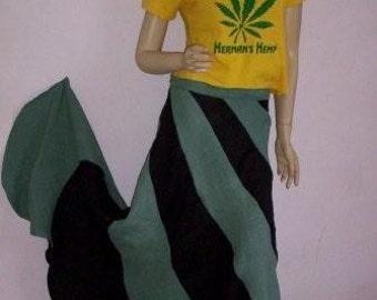 Hermans Hemp Swirl skirt  32inch  waist