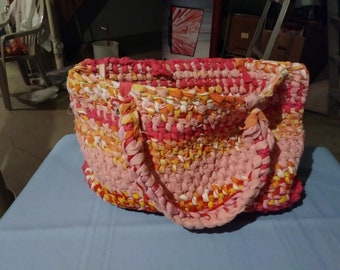 Pink and Peach tote