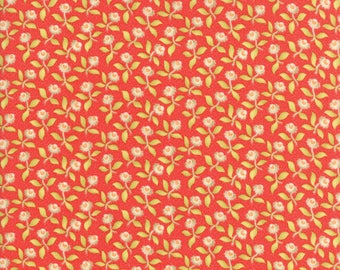 Fig Tree Fabric - Hazel and Plum - Red Fig Tree Quilt Fabric - Red Floral Quilting Fabric By The 1/2 Yard