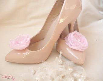 Pink petal fairy wedding shoe clip