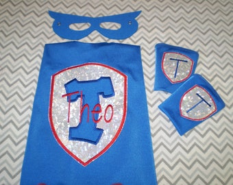 SUPERHERO CAPE SET - Super Hero Cape-Personalized Cape - Boy Cape - Photo Prop - Superhero Birthday - Kid Cape - Kids Gift-Superhero Costume
