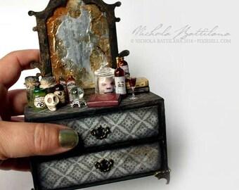 SALE Grotty Miniature Goblin Dreser