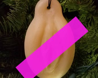Tree Kitty - Translucent Peach - Christmas Ornament