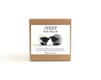 DIY Kit - Sheep Needle Felting Kit - Needle Felted Animal Kit