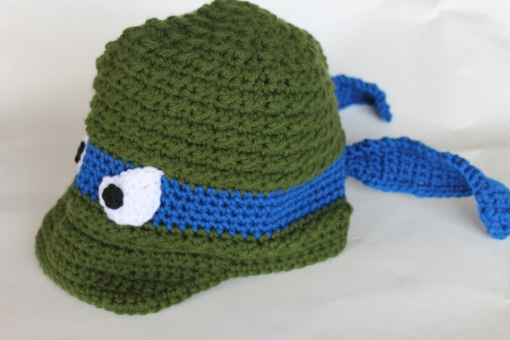 Crochet Ninja Turtle Newsboy Hat Warm Ninja Turtle Costume
