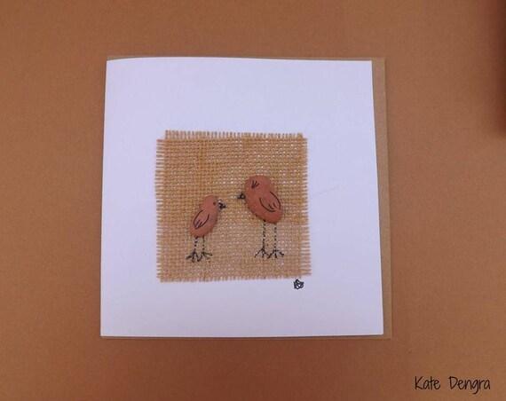 Sea Brick Birdies Greetings Card