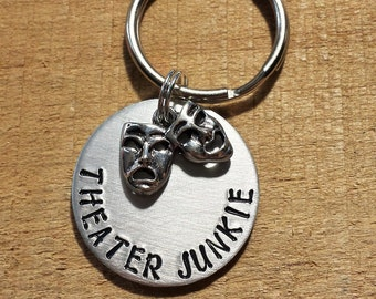 Drama Teacher Gift - Theatre Gift - Drama Teacher - Theater Gift - Theater Keychain - Drama Keychain - Comedy Tragedy Key Ring