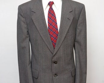 Men's Suit / Vintage Grey Blazer and Trousers by Kuppenheimer / Size 44 Large w9Dt4