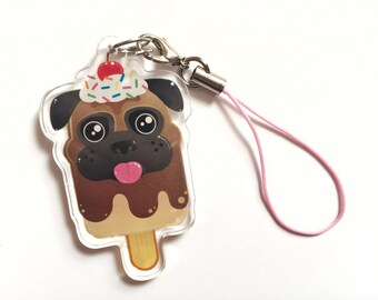 Pugsicle Keychain by Odds And Aliens