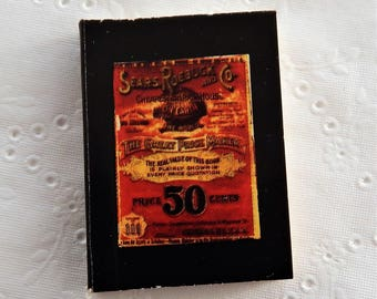 Miniature Vintage Sears Roebuck Catalog ~ Dollhouse Accessories ~ Antique Reproduction Mini Book