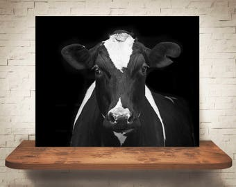 Cow Photograph - Fine Art Print - Black White Photography - Wall Art - Home Decor - Wall Decor -  Farm Pictures - Farmhouse Decor - Cows