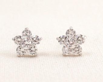 Wedding Bridal Cubic Zirconia Silver Earrings JSB10069ESilver