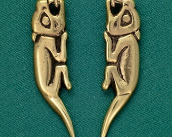Land Otter (River Otter)- Bronze- Earrings