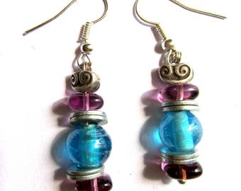 """A set of glass """"Turquoise purple"""""""