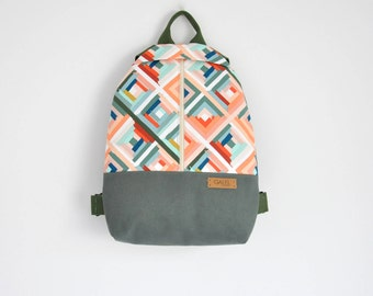 NEW, canvas backpack, cotton rucksack, hipster backpack, canvas bag, canvas rucksack, cotton canvas bag, cotton backpack - Made to Order