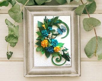 Handmade quilling wall art/ Roses/Romantic