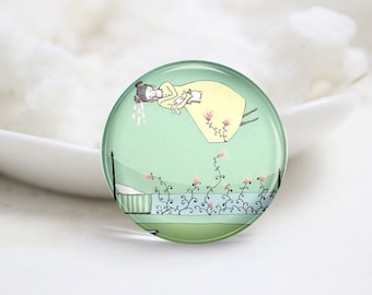 10mm 12mm 14mm 16mm 18mm 20mm 25mm 30mm Handmade Round Glass Cute Girl Photo Cabochons Image Glass Cover (P2608)