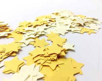 Yellow Confetti - Yellow Star Confetti - Star Scatter - Yellow Ombre - Confetti - Scatter - Baby Shower - Gender Reveal - Star Confetti
