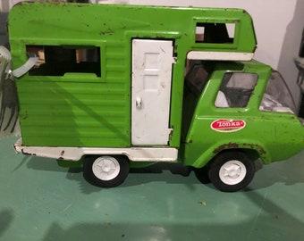 Green Tonka Truck Camper/5th Wheel/Toy Camper