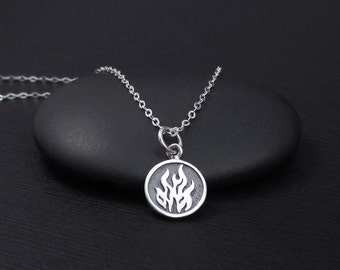 Element necklace etsy fire element necklace sterling silver fire necklace aries leo sagittarius element necklace urtaz Images