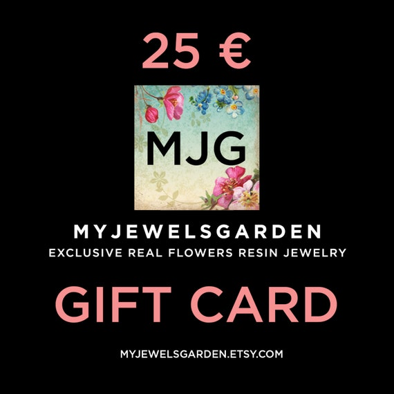 Jewelry gift certificate custom Gift card Gift voucher real flowers jewelry gift Thoughtful gift Necklace Last minute gift for her