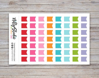Flag Banner Stickers   Planner Stickers   The Nifty Studio [182]