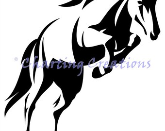 Horse Silhouette Counted Cross Stitch Pattern