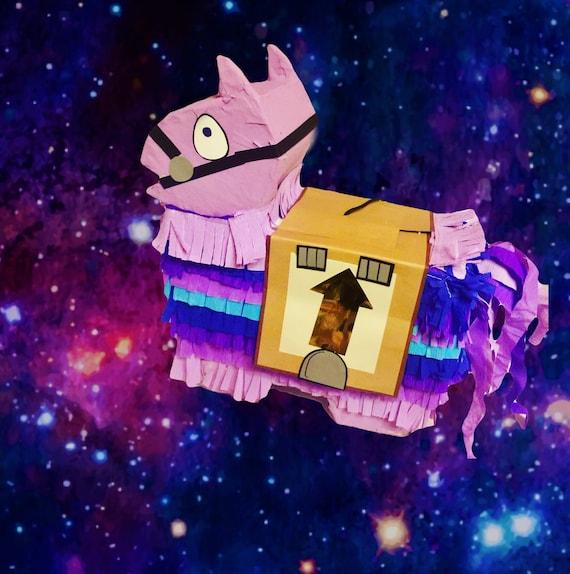 Super cute mini llama piñata in purple, 14 inches!  Perfect for your birthday loot