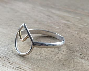 Peaks and Valleys Teardrop Ring - Made to Order