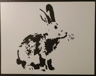 Detailed Bunny Rabbit Custom Stencil FAST FREE SHIPPING
