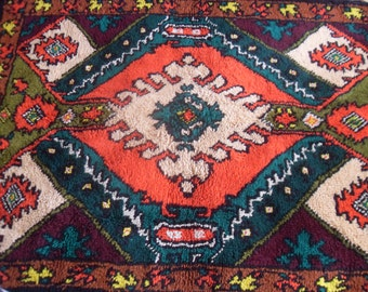 Original wool rug with very bright colors and patterns of ancient Bulgaria-230/160cm