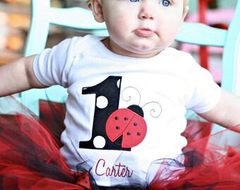 """Ladybug Birthday Tutu Outfit-Ladybug Tutu-Ladybug Birthday Outfit-Ladybug First Birthday Tutu Outfit """"Bow NOT Included*"""
