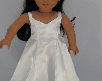 Doll Clothes Elegant White Gown fits American Girl or other 18 inch Dolls