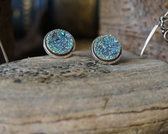 """Earrings """"Bright blue Crystals"""""""