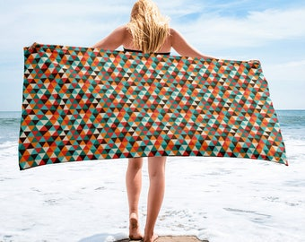 Trendy Stylish Fashion Geometric Hipster ColorfulTowel