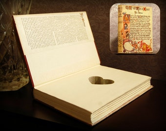 Hollow Book Safe with Heart - Vintage The Life and Times of Chaucer - Secret Book Safe
