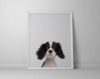 Wallart | White-black dog animal | Print Wall | Art Decor| Daily Motivation| Poster | Printable| Quote