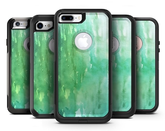 Green 2 Absorbed Watercolor Texture - OtterBox Case Skin-Kit for the iPhone, Galaxy & More