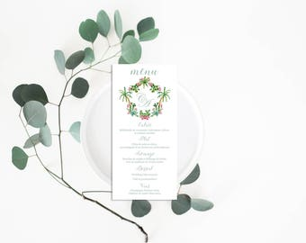 Printable Palm Springs Wedding Menu - Tropical Wedding Menu Card - Menu Card - Printable Menu - Palm Springs Wedding Menu - Cactus Menu