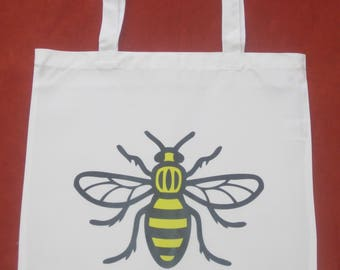 Manchester Bee Shopping Bag for Life White Black Yellow